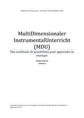 MDU MultiDimensionaler Instrumental Unterricht (auf französisch)