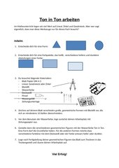 Geometrische Figuren - Ton in Ton arbeiten