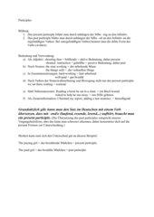 Erläuterung Participles