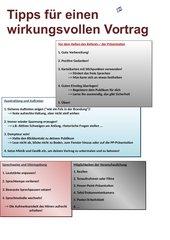 Tipps für einen wirkungsvollen Vortrag/Referat/Präsentation
