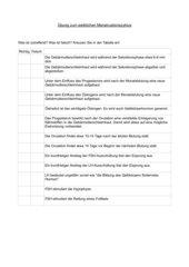 Ankreuztest Menstruationszyklus