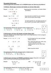Einfache Gleichungen - ein Erklärungsversuch