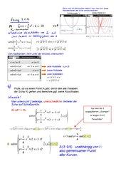 Potenzfunktion mit Parameter (Nullstellen, Punkte der Schar))
