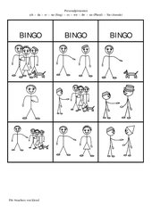Personalpronomen Bingo