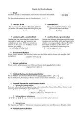 Lernzettel Bruchrechnung