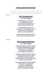 Drei Ostergedichte von Anita Menger