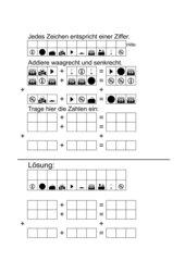 Symbolrätsel: Addition und Subtraktion dreistelliger Zahlen