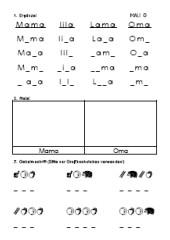 Alphabetisierung - Arbeitsblätter, Teil 1