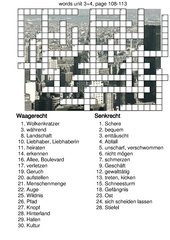 Kreuzworträtsel New Highlight 4 Bayern Unit 3 und 4