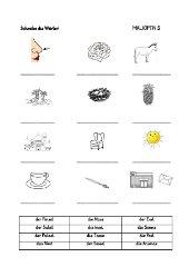 Alphabetisierung - Arbeitsblätter, Teil 2