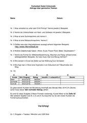 Informatik Facharbeit (Test) Stufe 8