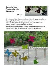 Schmetterlinge als Fenster- oder Wanddekoration