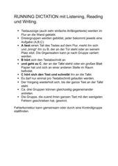 Running dictation Laufdiktat Anleitung
