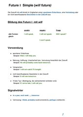 Englisch If-Satz Typ 1  + Will Future 1 , Erklärung, Übungen und Lösungen