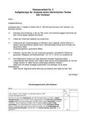 Klassenarbeit B. Schlink