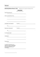 Berufspraktikum Betriebspraktikum Datenblatt Klasse 8-13