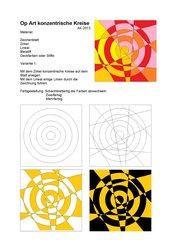 Op Art - Konzentrische Kreise