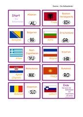 Domino -  Die Balkanländer