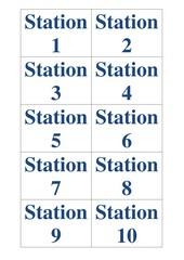 Stationskarten 1-10