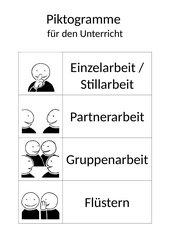 Piktogramme für den Unterricht