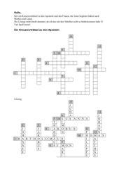 Kreuzworträtsel zu den Aposteln