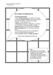 Tabellen und Rahmen - Spielvorlage für ein Zuordnungsspiel