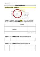 Tabellen und Rahmen - verschiedene Formatierungen