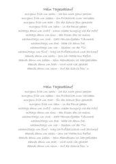 DAZ - Mein Tagesablauf Gedicht