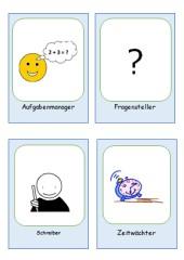 Rollenkarten für die kooperative Gruppenarbeit