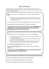 Haupt- und Nebensätze Merkblatt