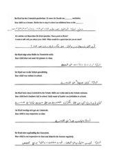 hilfreiche Sätze mit Eltern arabisch, deutsch, englisch Elternkorrespondenz Flüchtling Migration