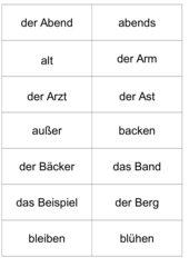 Grundwortschatz 3. Klasse, Bayern, kleine Wortkarten