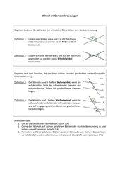 Winkel an Geradenkreuzungen