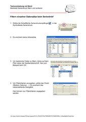 Filtern im Serienbrief (XP)