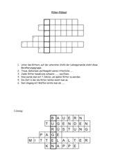 Kreuzworträtsel über Ritter