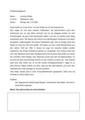 Bericht - Praktikumstagebuch