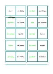 Domino: Wörter ableiten (ä-a/äu-au)