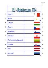 EU Beitrittsstaaten 2004