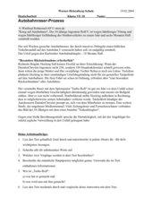 Texterarbeitung - Autobahnraser-Prozess
