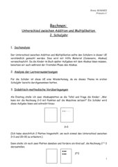 Rechnen - Addition und Multiplikation