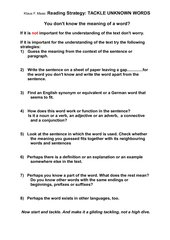 Reading Comprehension Strategy  4