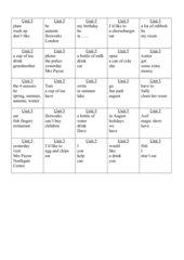 Highlight 2 Unit 5. Satzkarten zur Wiederholung. Sprachanwendung