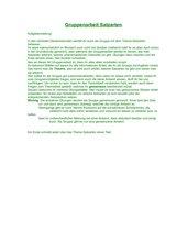 Gruppenarbeit Satzarten