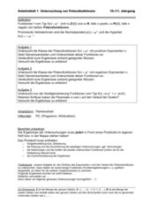 Untersuchung von Potenzfunktionen mit Winfunktion