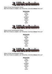 Diktattraining mit Lernwörtern Klasse 2
