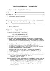 Probeschulaufgabe 7. Klasse Mathe Realschule