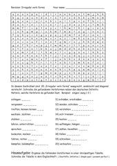 Irregular verbs - Wortsuchrätsel