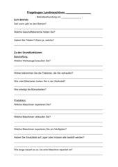Fragebogen zur Betriebserkundung Landmaschinenhandel