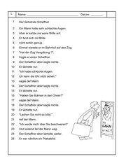 Differenzierter Lesetext - Der lächelnde Schaffner