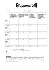 Arbeitsteilung für die Gruppenarbeit/Evaluation